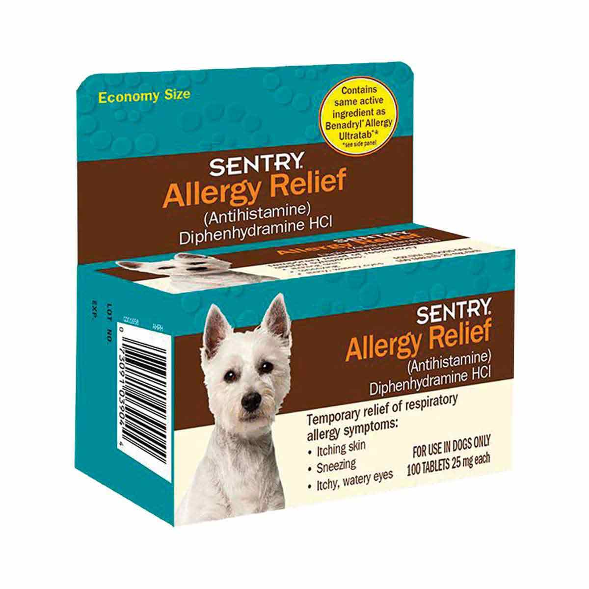 Sentry Allergy Relief For Dogs 100 Count
