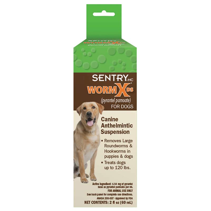 Sentry WormX DS Liquid Wormer for Dog 2 oz