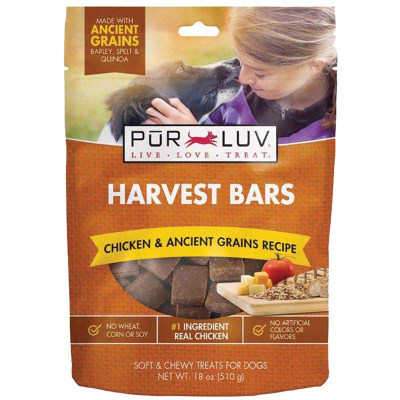 Pur Luv Harvest Chews Bars 18 oz Chicken, Cheese and Tomato