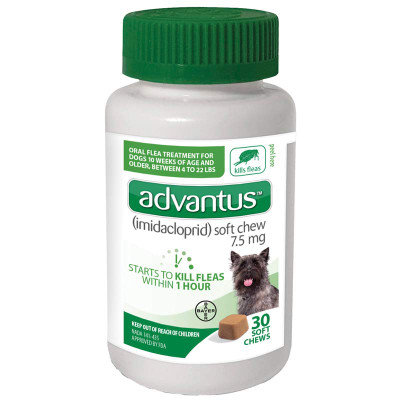 30 Count Advantus Soft Chew Flea Treatment for Small Dogs 4-22 lbs