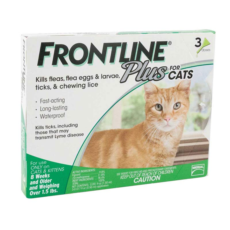 Frontline Pus Green Cat 3 Pack Flea Cat 3 Weeks & Older >1.5 lbs