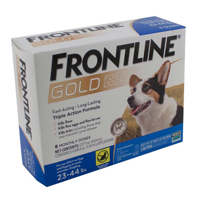 Frontline Gold Flea Treatment for Dogs 23-44 lbs 6 Pack