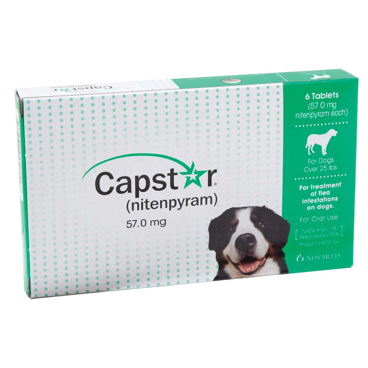 Novartis Capstar Large Dogs Over 25 lbs includes 6 Tablets
