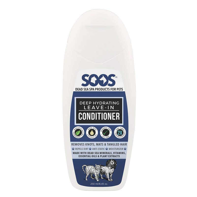 Soos Deep Hydrating Leave-In Conditioner for Cats and Dogs 8.45 oz