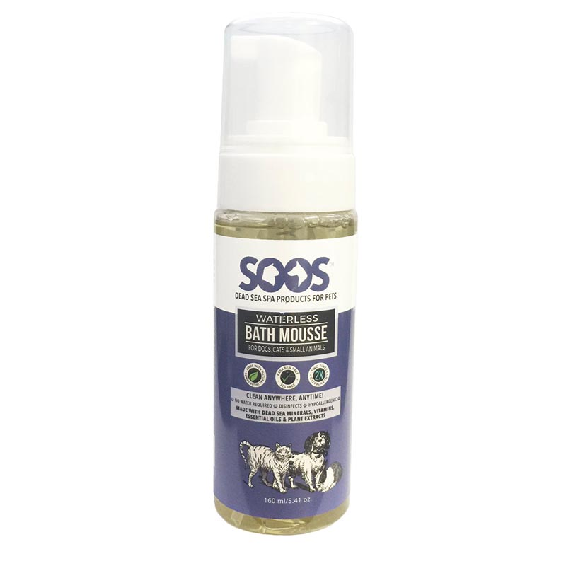 Soos Waterless Bath Mousse for Cats and Dogs and other pets 5.4 oz