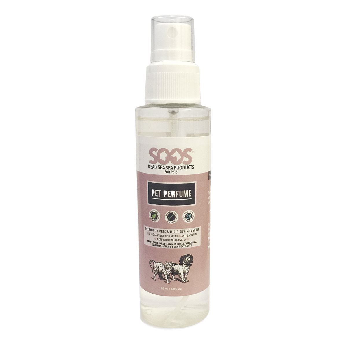 Soos Pet Perfume Cologne Spray for Cats and Dogs 4 oz