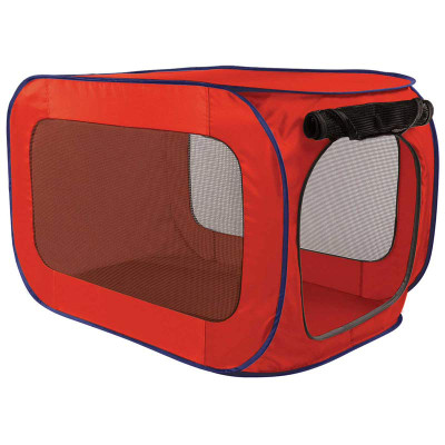 Professional Pop Open Dog Kennel in Red - 22 inches by 22 inches by 36 inches