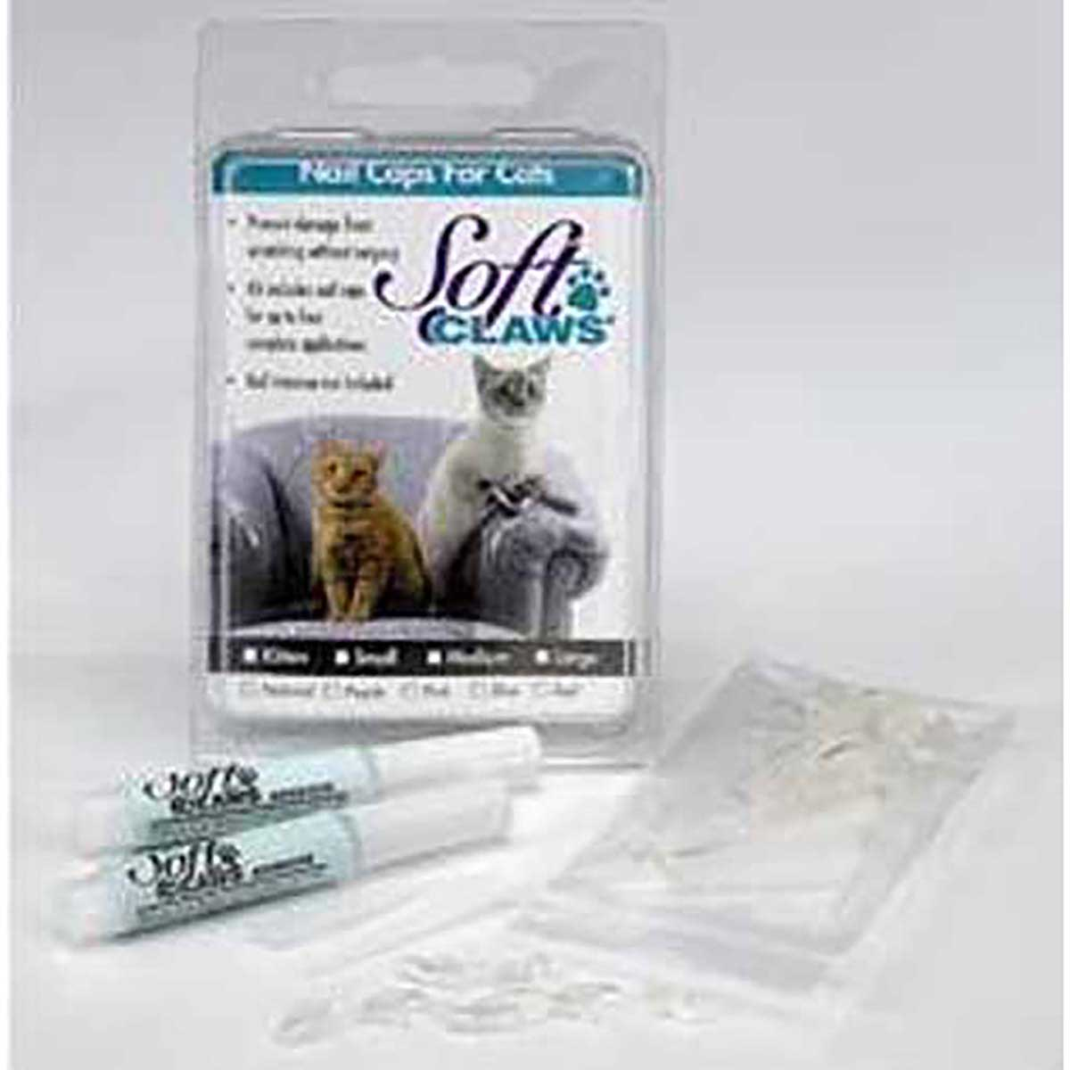 Feline Soft Claws Small Nail Caps Take Home Kit
