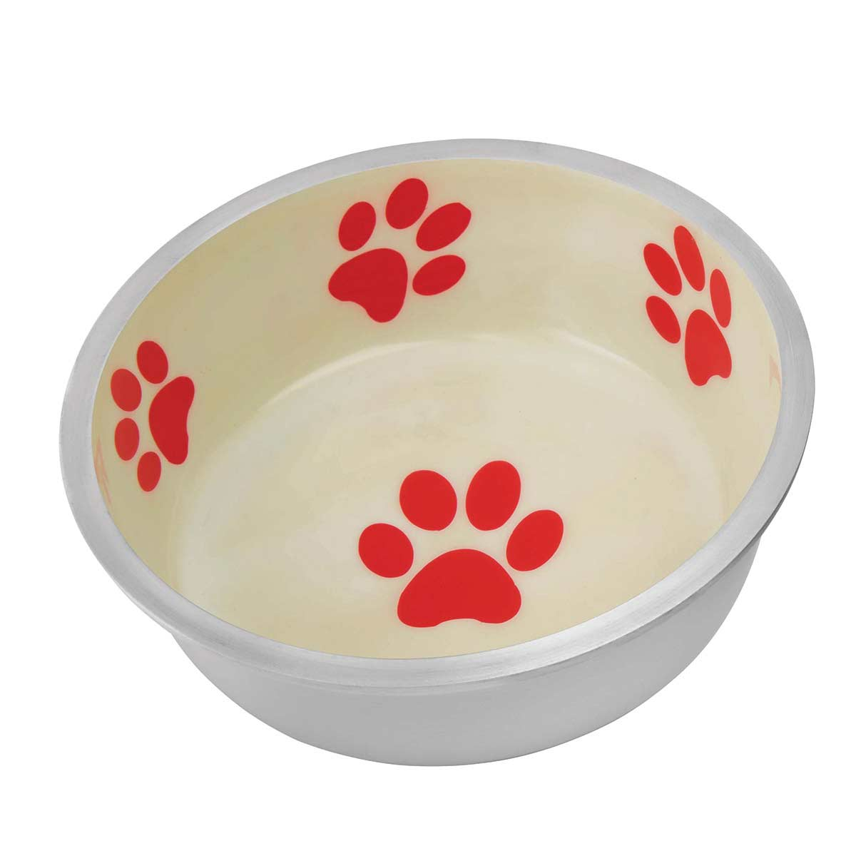 Indipets Super Max X-Small Ivory and Red Bowl for Dogs