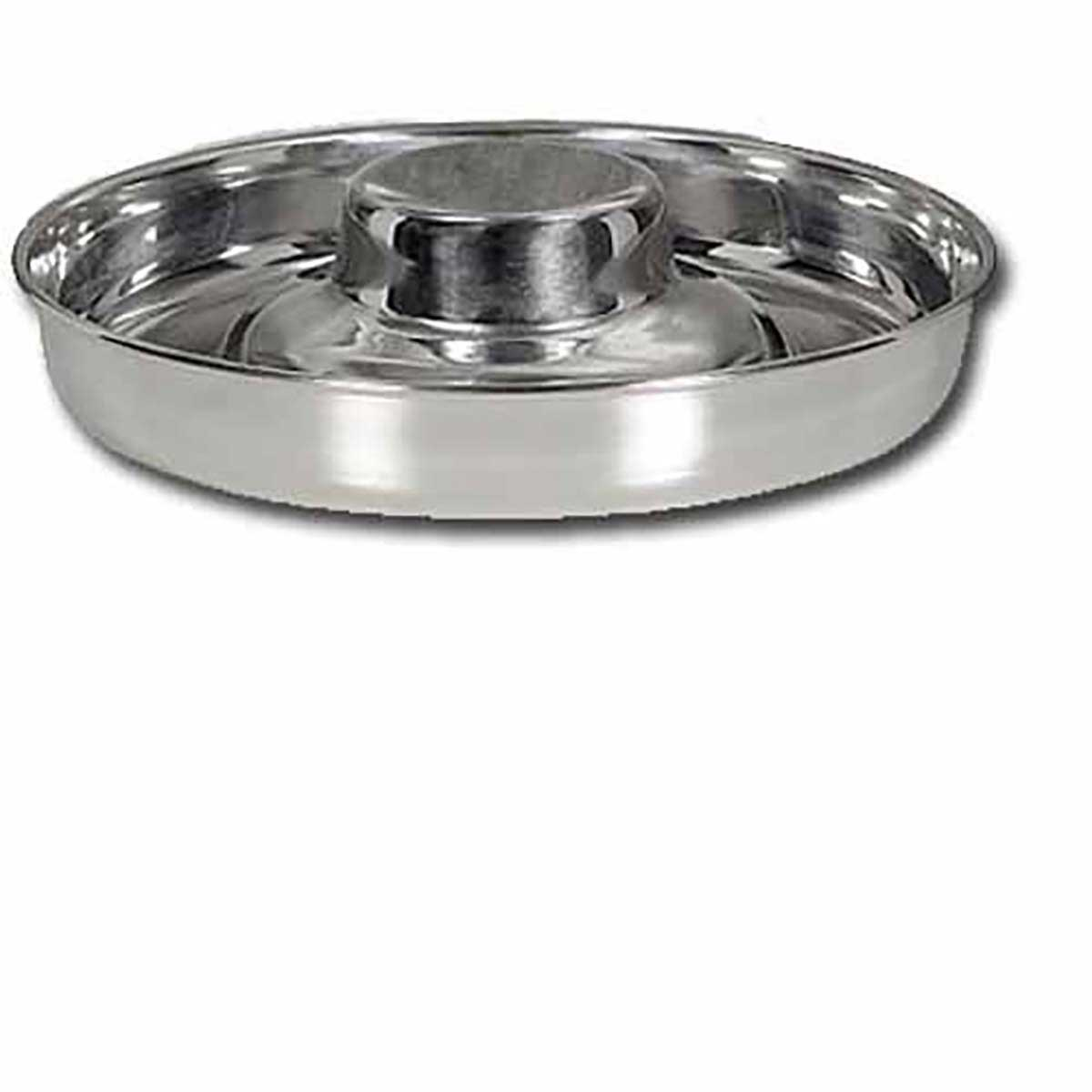 Indipets Raised Center Stainless Steel Puppy Feeding Dish Large 15 inches