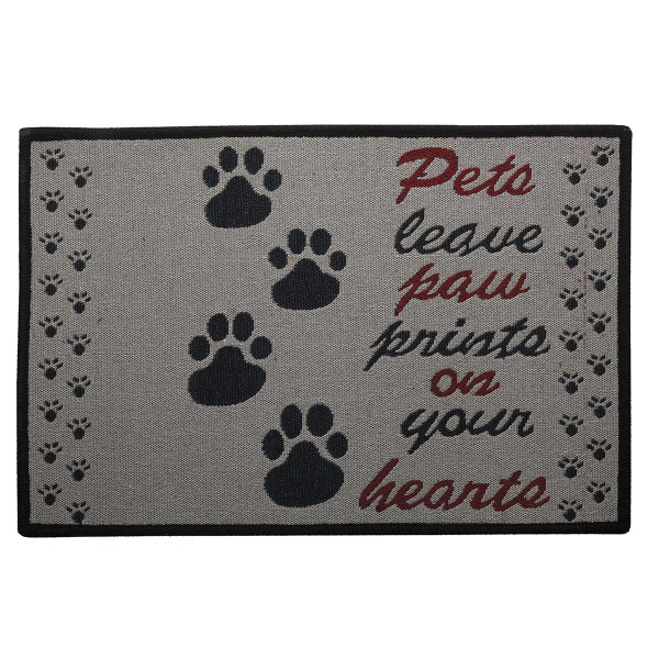 Indipets Paw Prints on Your Heart Place Mat