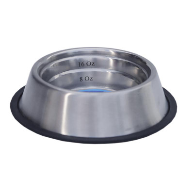 16 oz Indipets Non-Tip Measurement Dish for Dogs and Puppies