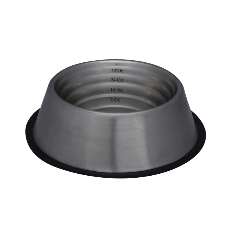 32 oz Indipets Non-Tip Measurement Dish for Dogs
