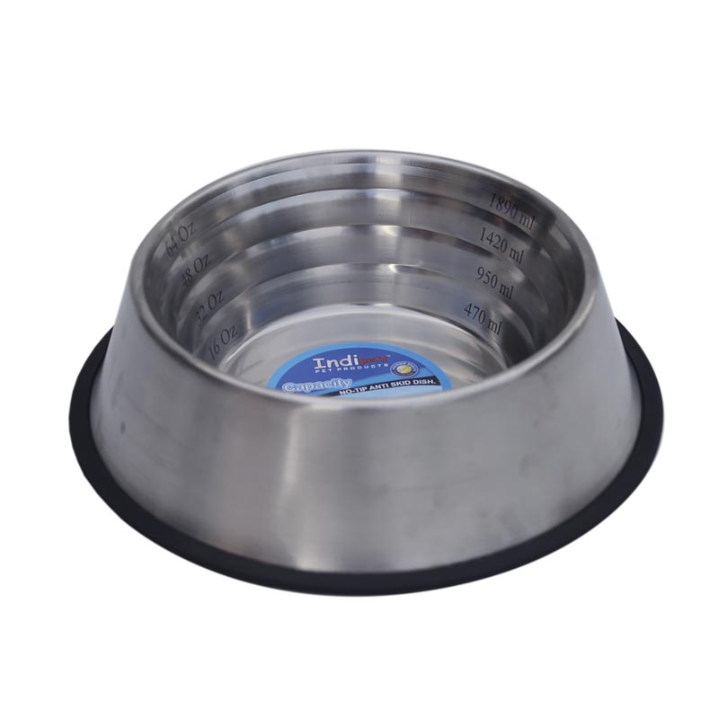 64 oz Indipets Non-Tip Measurement Dish for Dogs