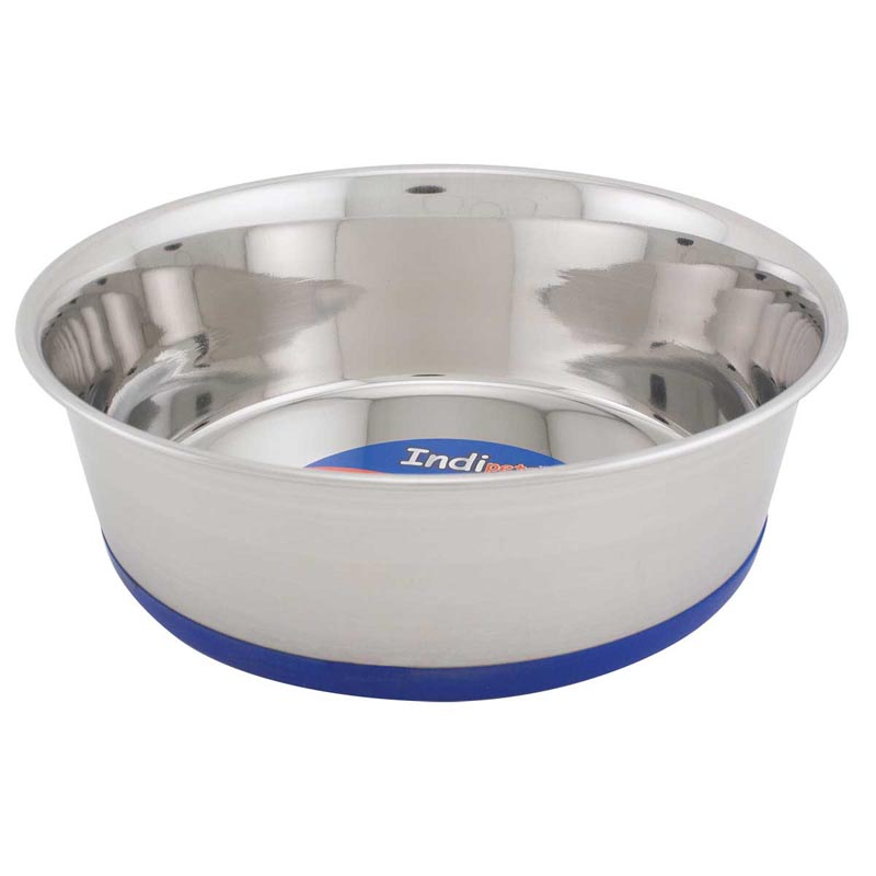 Blue Indipets Premium Dishes With Bonded Rubber Base 3 Quart