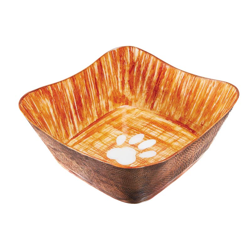 Indipets Super Max X-Small Square Dog Bowl Textured Finish
