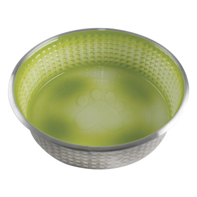 Lime Large 40 oz Indipets Jack and Jill Stainless Steel Dish
