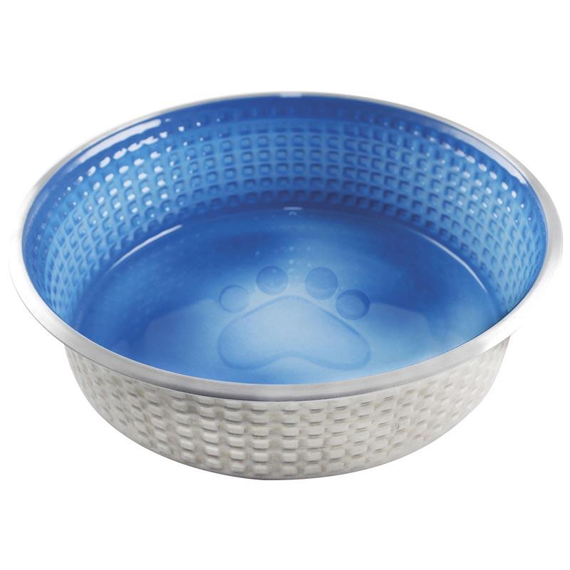 Large 40 oz Indipets Jack and Jill Dog Dish Ocean Blue