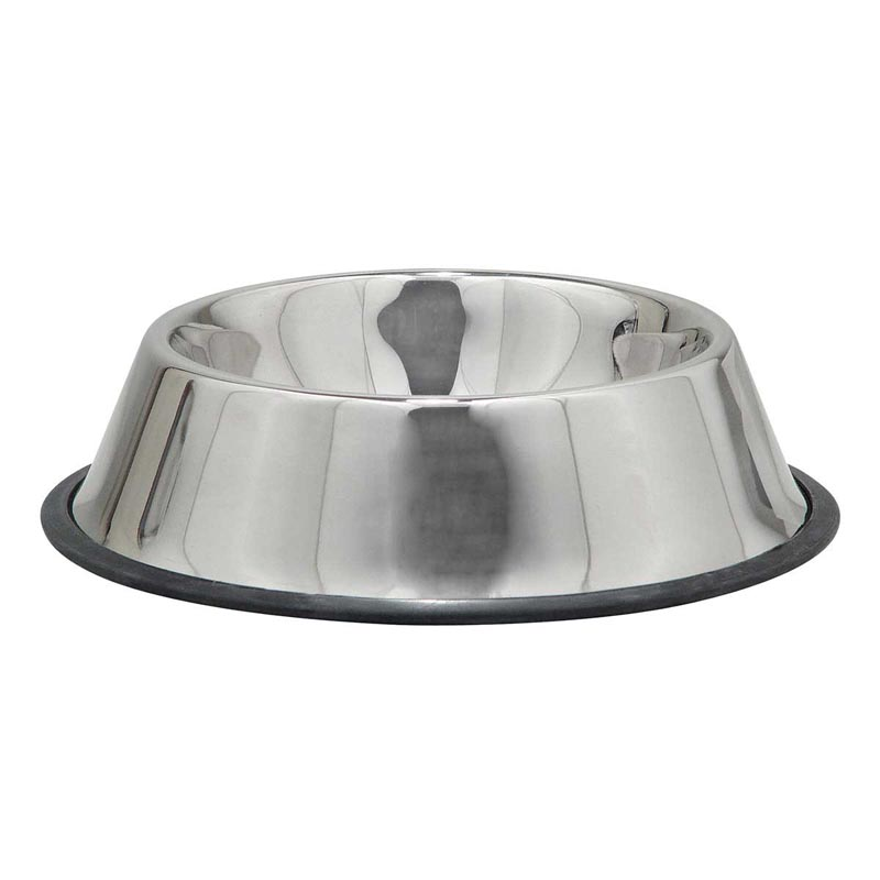 Indipets No-Tip Stainless Steel Dish for Extra Large Dogs 64 oz