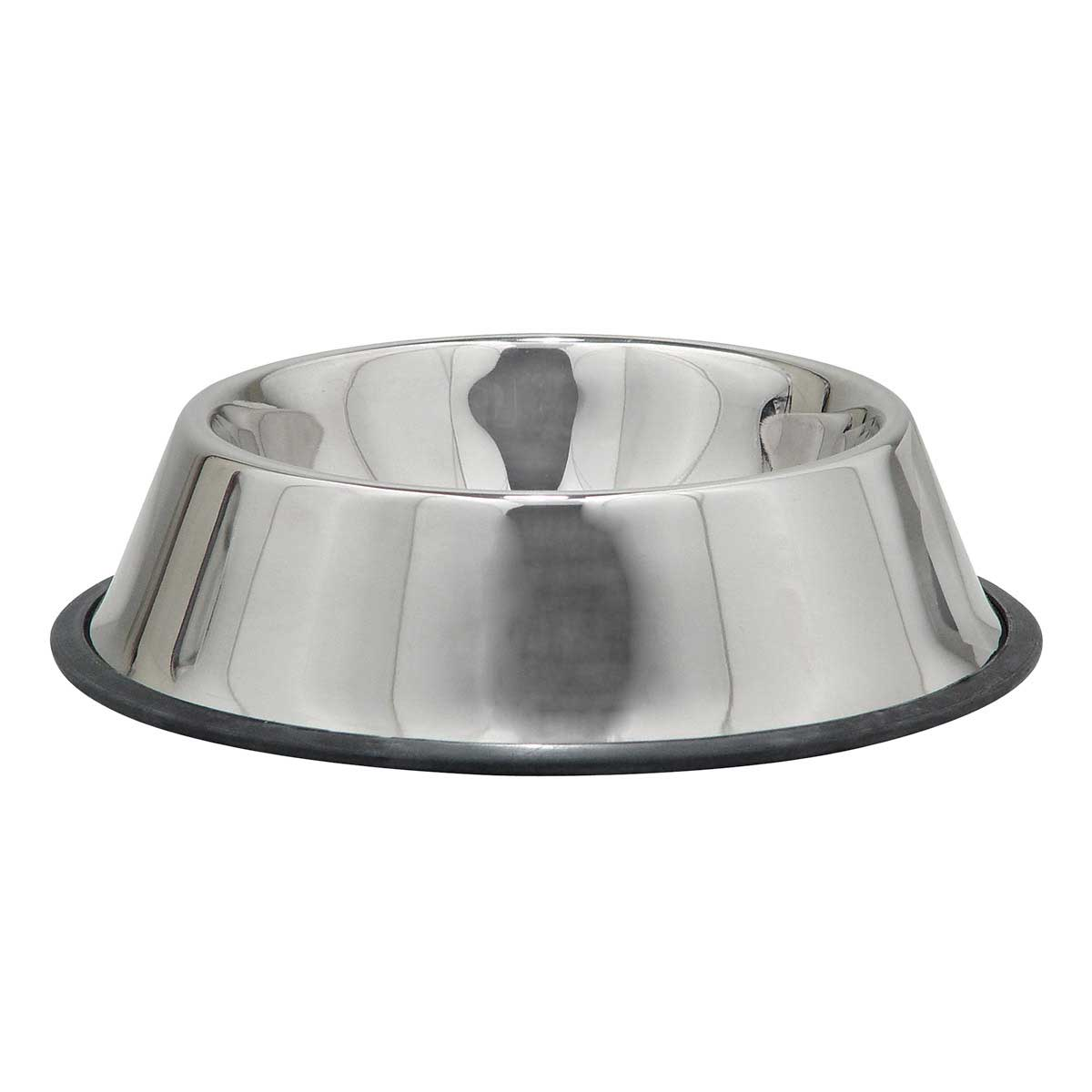 Indipets No-Tip Stainless Steel Dish for VERY EXTRA LARGE Dogs 96 oz