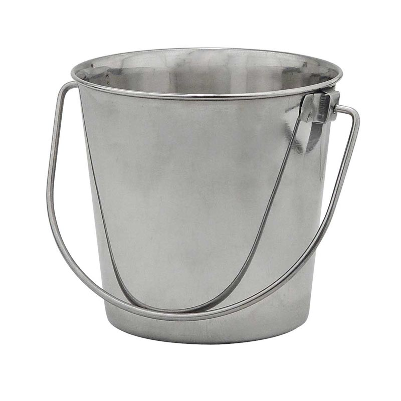 Indipets Stainless Steel Pail with Handle 13 Quart at Ryan's Pet Supplies