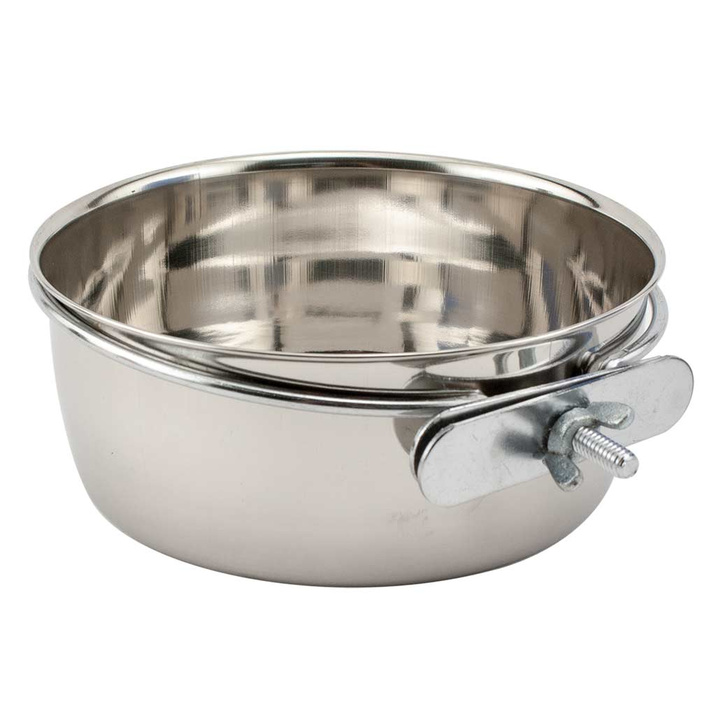 Indipets Stainless Steel Coop Cup With Bolt for Dogs or Cats 64 oz