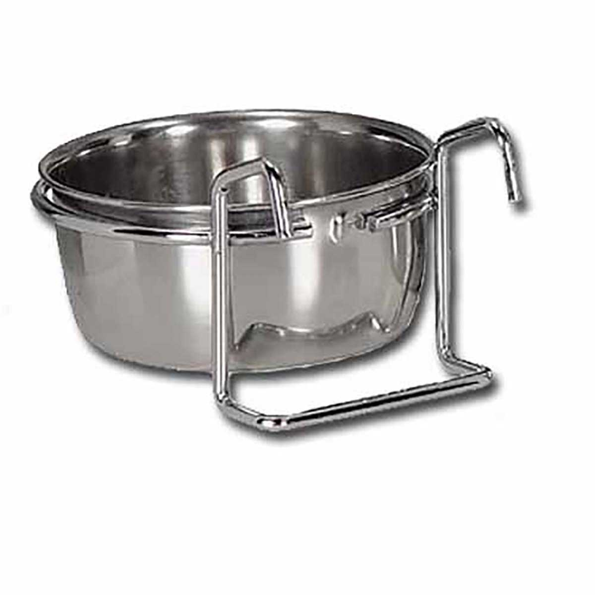 Indipets Stainless Steel Coop Cup for Cats or Dogs With Hanger 30 oz