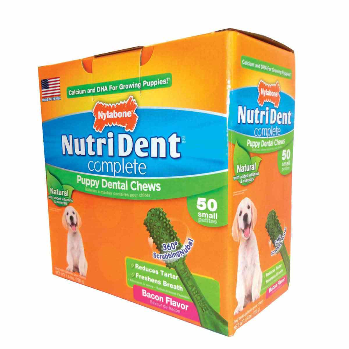 Nylabone Nutri Dent Complete Puppy Bacon 50 Count