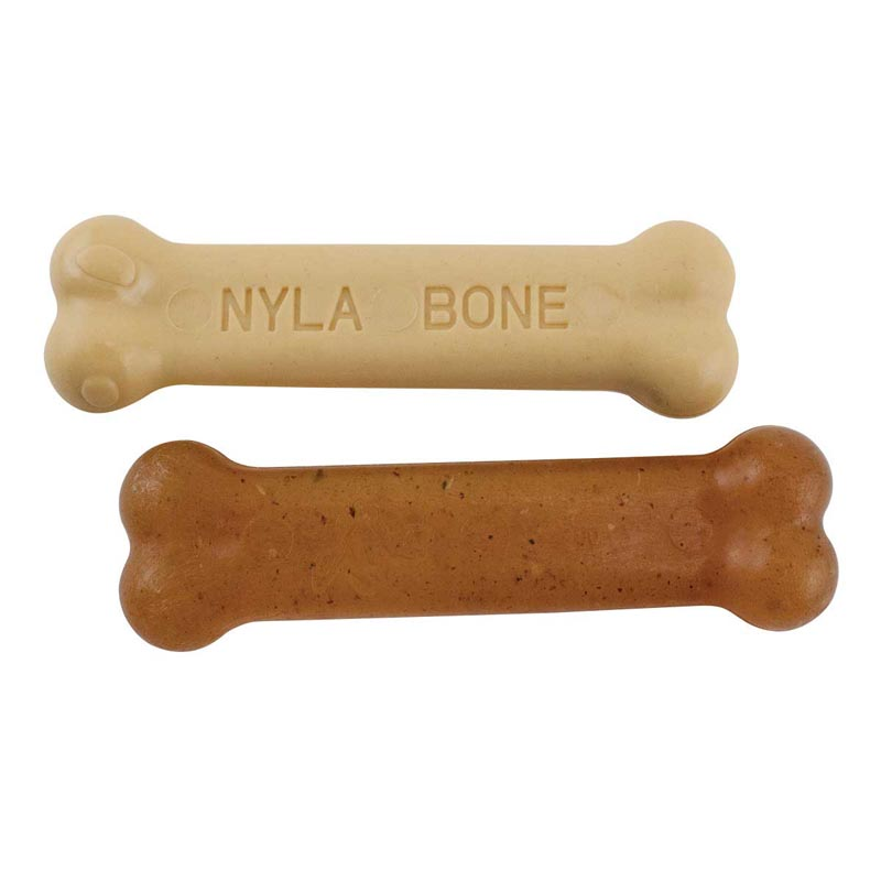 Nylabone Puppy Twin Pack Petite Chicken Chew and Peanut Butter Dog Treats