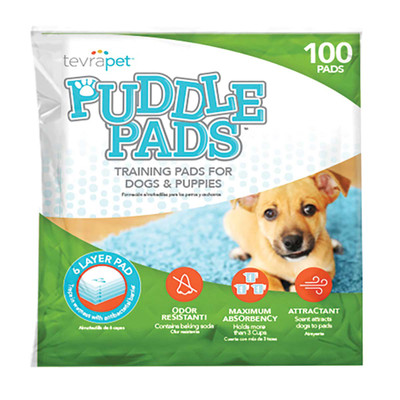 Tevra Pet Puddle Pads - 100 Pack for Indoor House Training