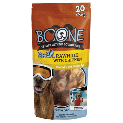 Small 20 Pack Boone Rawhide with Chicken