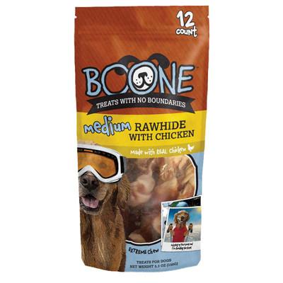 Medium 12 Pack Boone Rawhide with Chicken