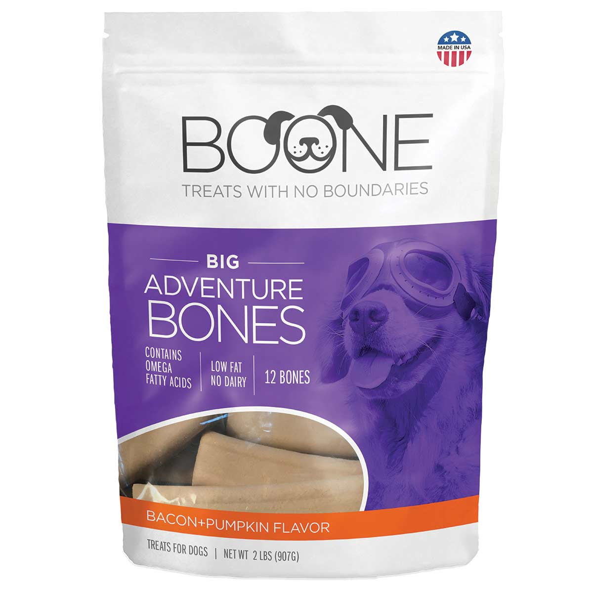Boone Bones Bacon and Pumpkin Dog Chews 32 oz
