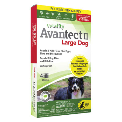 4 months Vetality Avantect II for Dogs 11-20 lbs