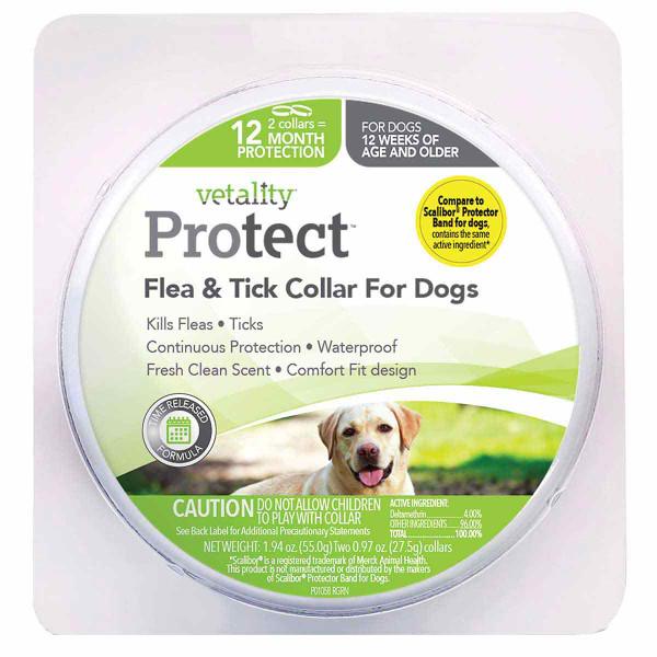 Vetality Protect Flea & Tick Dog Collar