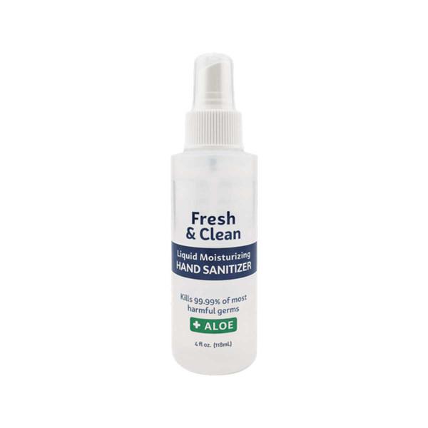 4oz Fresh & Clean Liquid Moisturizing Hand Sanitizer Spay with Aloe