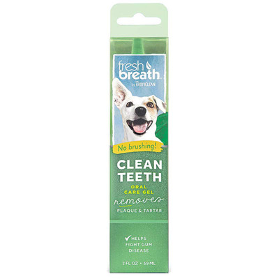 2 oz Fresh Breath by TropiClean Clean Teeth Oral Care Gel