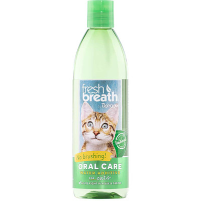 Tropiclean Fresh Breath Oral Care Water Additive for Cats 16 oz