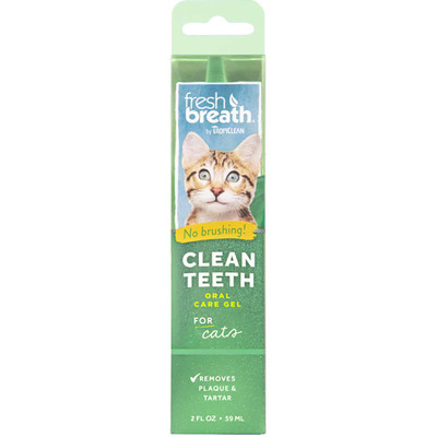 Tropiclean Fresh Breath Clean Teeth Oral Care Gel for Cats 2 oz