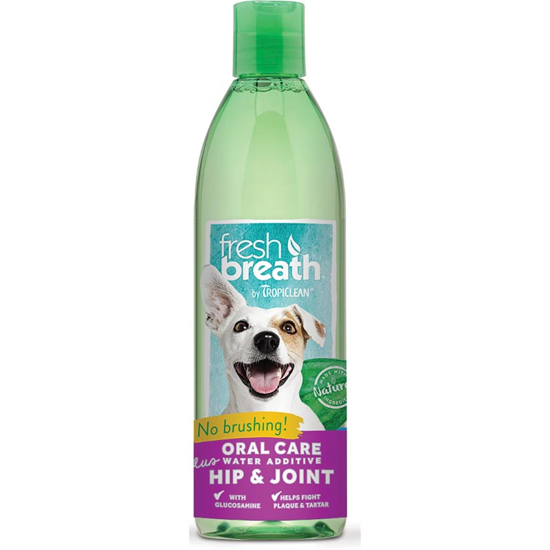 Tropiclean Fresh Breath plus Hip and Joint Water Additive 16 oz