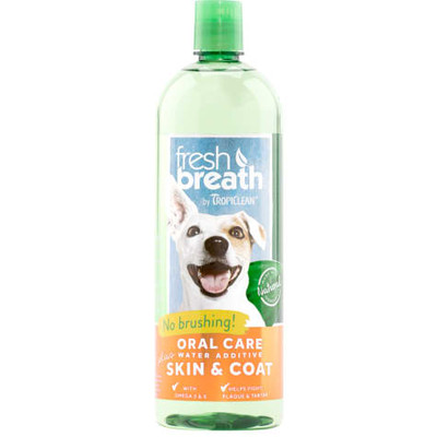 Fresh Breath by TropiClean Oral Care Water Additve Plus Skin & Coat 33.8 oz