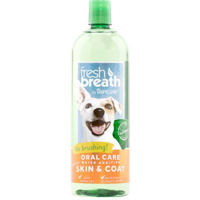 Fresh Breath by TropiClean Oral Care Water Additve Plus Skin & Coat 33.8 oz