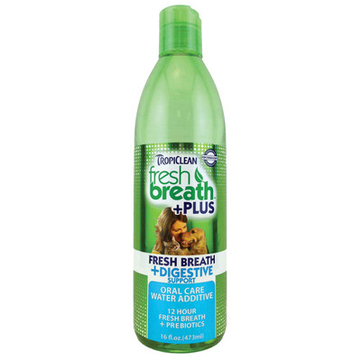 Tropiclean Fresh Breath Water Additive and Digestive Support 16 oz