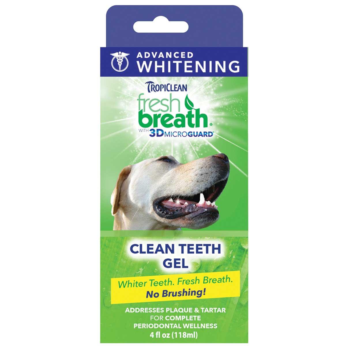 Tropiclean Fresh Breath Clean Teeth Gel with 3D Microguard for Dogs