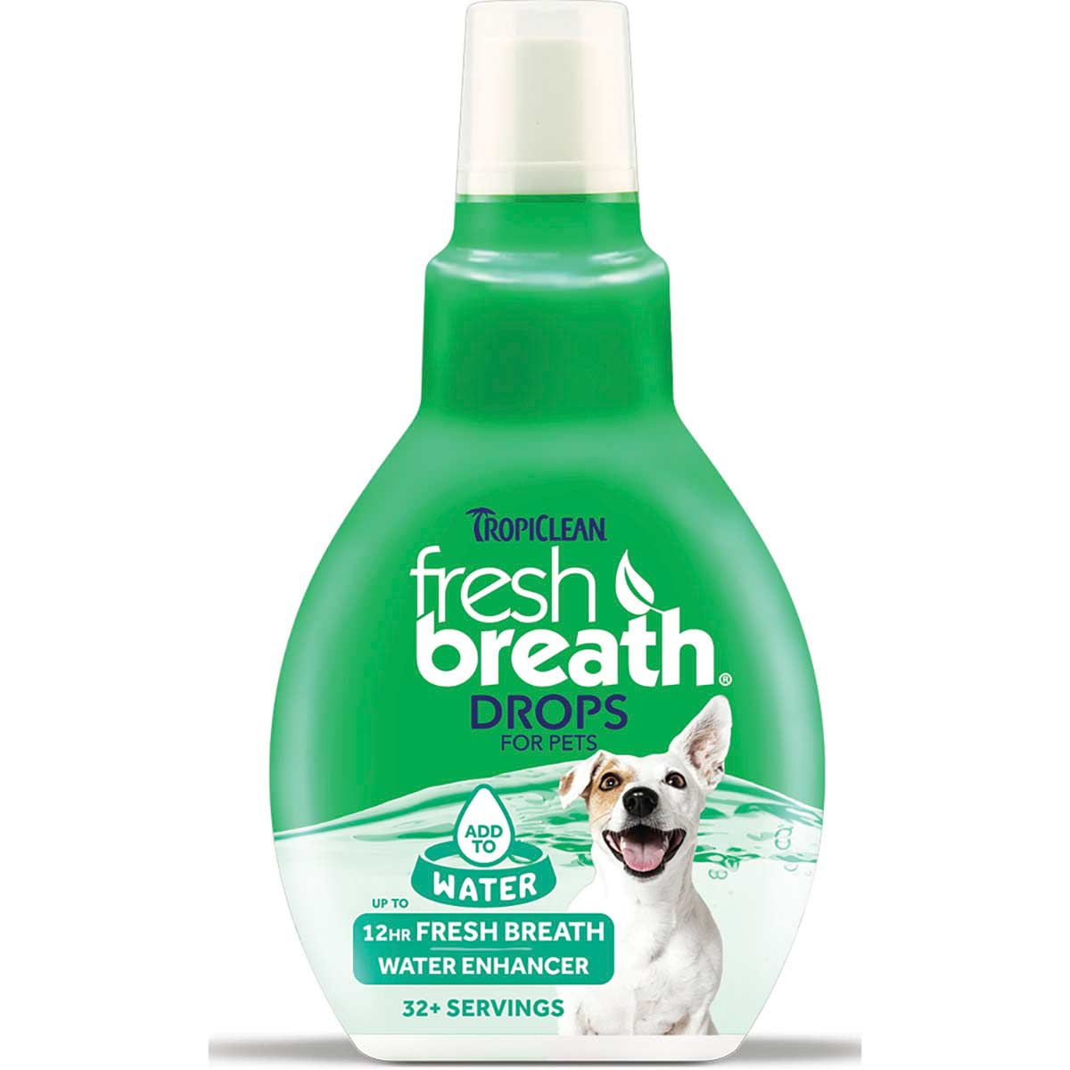 Tropiclean Fresh Breath Drops Water Enhancer 2.2 oz