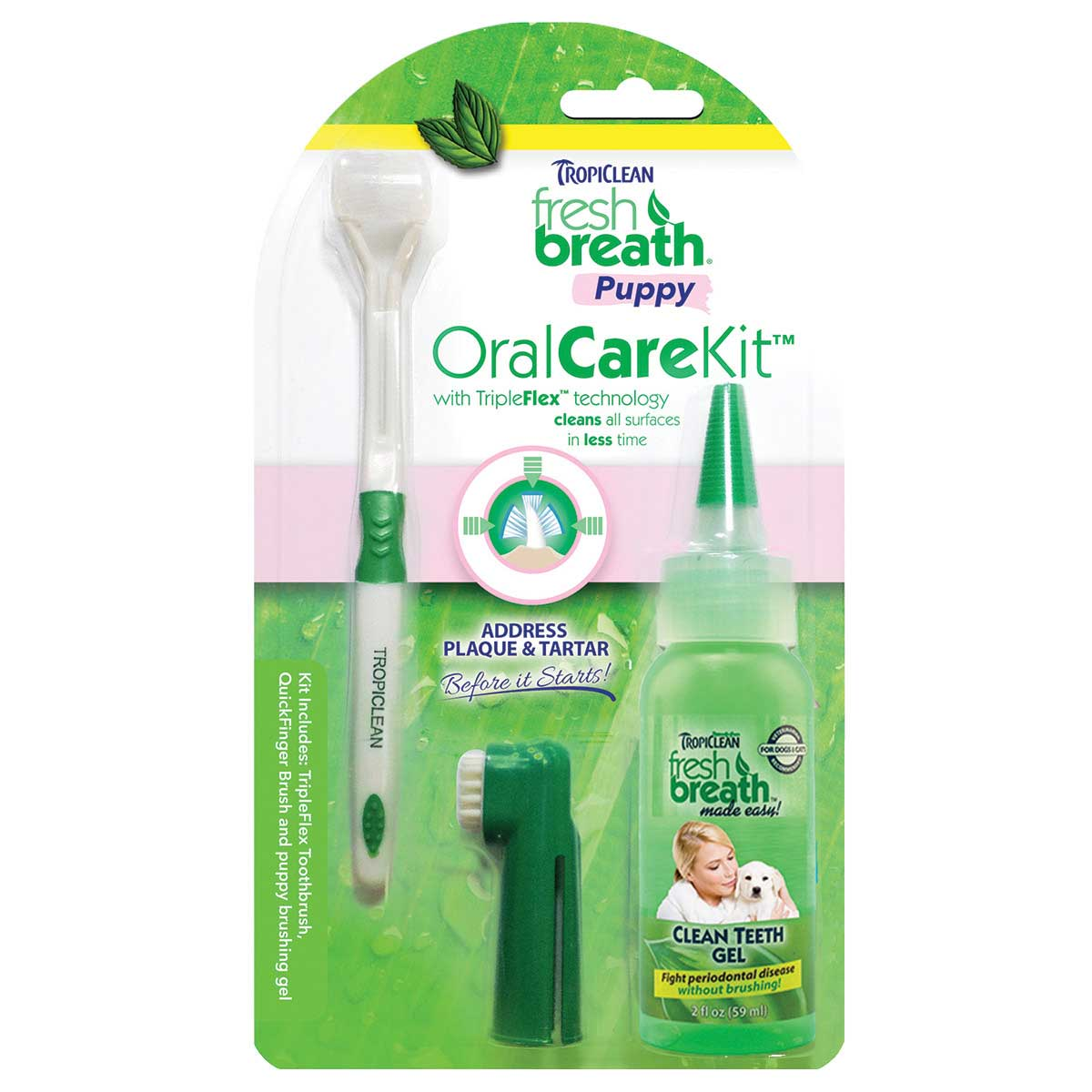 Tropiclean Fresh Breath Puppy Oral Care Kit for Dogs