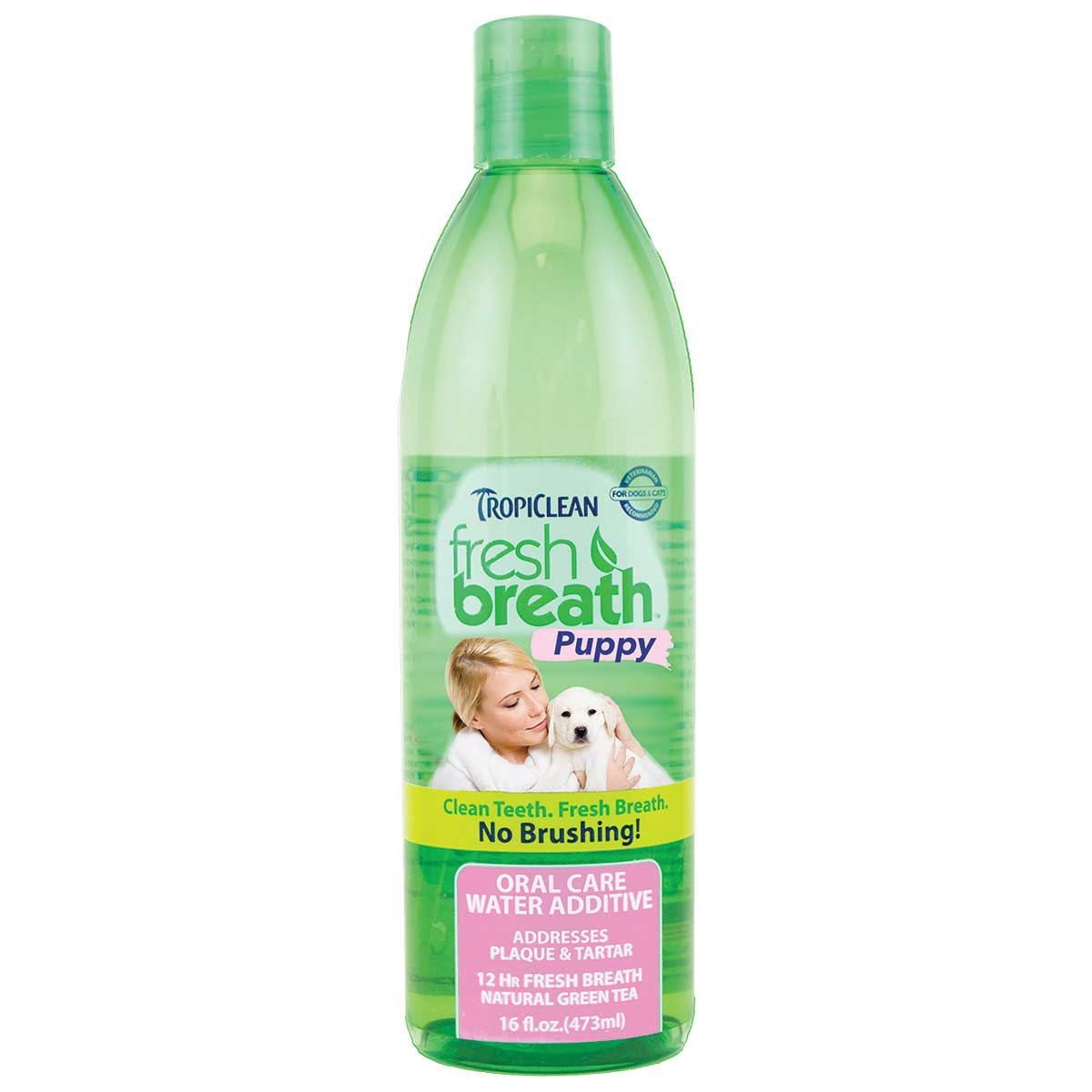 Tropiclean Fresh Breath Puppy Water Additive for Dogs 16 oz