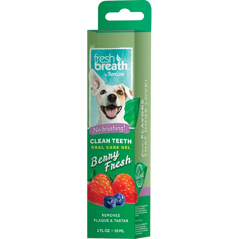 Tropiclean Fresh Breath Clean Teeth Gel for Dogs - Berry Fresh 2 oz