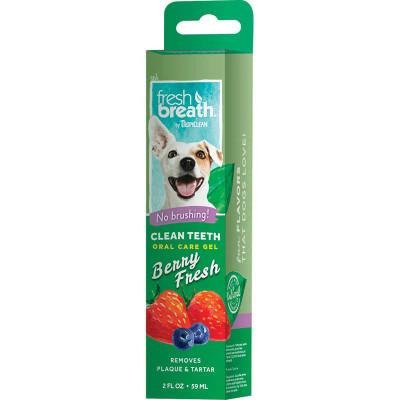 Tropiclean Fresh Breath Clean Teeth Gel for Dogs - Berry Fresh 2 oz