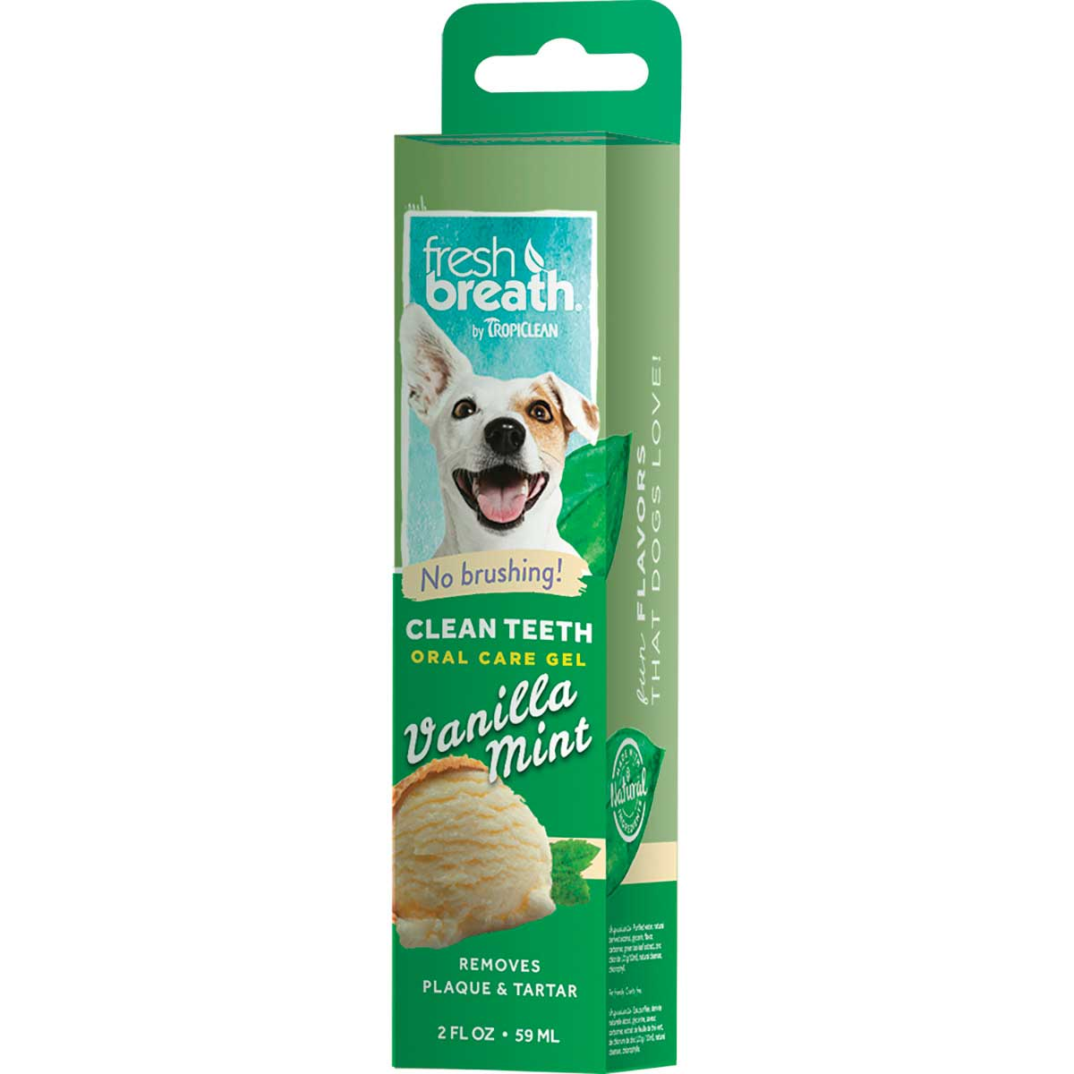 Tropiclean Fresh Breath Clean Teeth Gel for Dogs - Vanilla Mint 2 oz
